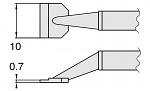 HAKKO - T8-1007 - Desoldering tip pair for desoldering tweezers FM2022, 0.7 x 10 mm, WL23411