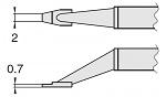 HAKKO - T8-1004 - Desoldering tip pair for desoldering tweezers FM2022, 0.7 x 2 mm, WL23408