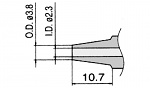 HAKKO - N1-23/N3-23 - Desoldering nozzle for FM-2024-02, WL23427