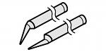 HAKKO - A1389 - Desoldering tip pair for soldering tweezers 950, 0.25 mm, WL21792