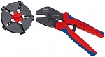KNIPEX - 97 33 02 - MultiCrimp, crimping pliers with change magazine, incl. 5 crimping dies, WL27692