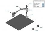 JBC - RWB-B - Adjustable hot air piston holder, for PHB (plate 480 x 550 mm), WL42559