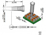 JBC - C115125 - Soldering tip chisel-shaped, 1 x 0.2 mm, WL45432