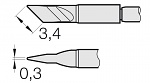JBC - C210018 - Soldering tip for T210-A / T210-NA, blade-shaped, WL26247