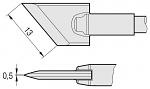 JBC - C245955 - Soldering tip knife shaped, 13 x 0.5 mm, WL22529