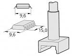 JBC - C245304 - Desoldering tip tunnel 9,6 x 15 mm, WL22508