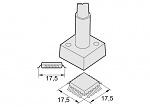 JBC - 2245027 - Desoldering tip QFP/PLCC 17.5 x 17.5 mm, WL13240