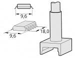 JBC - C245215 - Desoldering tip tunnel 9,6 x 18 mm, WL20753