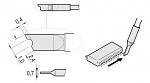 JBC - C210012 - Solder depot tip for T210-A / T210-NA, blade-shaped, WL18115
