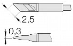 JBC - C105112 - Soldering tip knife shaped, 2.5 x 0.3 mm, WL26231