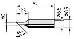 ERSA - 0832TDLF/SB - Soldering tip straight, bevelled, 3.0 mm, WL36114