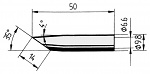ERSA - 0832GDLF/SB - Soldering tip straight, bevelled, 14.0 mm, WL36107
