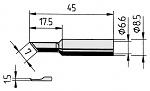ERSA - 0832AD/SB - Soldering tip PLCC knife, straight, 1.5 mm, WL12200