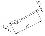 ERSA - 0452EDLF060/SB - Desoldering tip set, straight, 6.0 mm, WL29908
