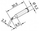 ERSA - 0102WDLF23/10 - Soldering Tip for i-Tool, straight, PowerWell with Groove, 2.3 mm, WL22894
