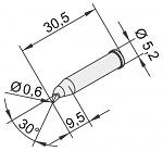 ERSA - 0102SDLF06/10 - Soldering tip for i-Tool, bent, pencil tip, 0.6 mm, WL22892