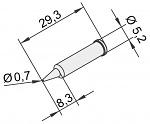 ERSA - 0102PDLF07/10 - Soldering tip for i-Tool, straight, pencil tip, 0,7mm, WL22890