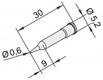 ERSA - 0102PDLF06/10 - Soldering tip for i-Tool, straight, pencil point, 0,6 mm, WL23377