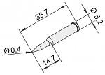 ERSA - 0102PDLF04L/10 - Soldering tip for i-Tool, straight, pencil tip, 0,4mm, extended, WL23372