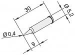 ERSA - 0102PDLF04/10 - Soldering tip for i-Tool, straight, pencil tip, 0,4mm, WL22889