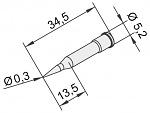 ERSA - 0102PDLF03L/10 - Soldering tip for i-Tool, straight, pencil tip, extended 0,3mm, WL23375