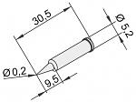 ERSA - 0102PDLF02/10 - Soldering tip for i-Tool, pencil tip straight 0,2mm, WL22888