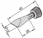 ERSA - 0102CDLF120C/10 - Soldering tip for i-Tool, straight conical, chisel-shaped, 12 mm, WL24819