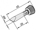 ERSA - 0102CDLF080C/10 - Soldering tip for i-Tool, straight conical, chisel-shaped, 8 mm, WL25465