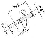 ERSA - 0102BDLF20/10 - Soldering Tip for i-Tool, straight, PLCC Knife, 2 mm, WL22881