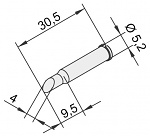 ERSA - 0102ADLF40/10 - Soldering tip for i-Tool, straight, bevelled, 4 mm, WL22880