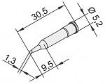 ERSA - 0102ADLF13/10 - Soldering tip for i-Tool, straight, bevelled, 1.3 mm, WL23381