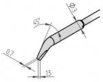 ERSA - 462MDLF015 - Desoldering tip set, angled chisel-shaped 1.5 mm, WL29118