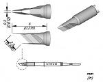 JBC - C115-212 - Löt-/Entlöspitze für Nano Handstücke, 2,5 x 0,3 mm, messerförmig, WL45912