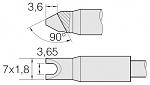 JBC - C470033 - Soldering tip cylindrical, D 3,65 mm, WL26084