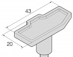 JBC - C470027 - Soldering tip special shape, 43 x 20 mm, WL30216