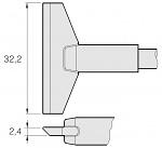 JBC - C470023 - Soldering tip, blade-shaped, 32.2 mm, WL25283