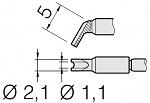 JBC - C210025 - Soldering tip for T210-A / T210-NA, chisel-shaped, WL35474