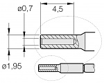 JBC - C210017 - Soldering tip for T210-A / T210-NA, special shape, WL26233