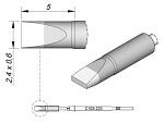 JBC - C105223 - Soldering tip chisel-shaped, straight, 2.4 x 0.6 mm, WL29034