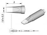 JBC - C105222 - Soldering tip chisel-shaped, straight, 1.6 x 0.3 mm, WL29033