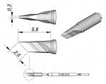 JBC - C105212 - Soldering tip bevelled, 2.5 x 0.3 mm, WL29029
