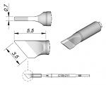 JBC - C105211 - Soldering tip, blade-shaped, 3.5 x 0.7 mm, WL29028