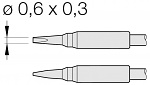 JBC - C105108 - Soldering tip chisel-shaped, straight, 0.6 x 0.3 mm, WL25669