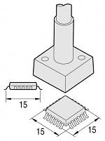 JBC - C245315 - Desoldering tip QFP 15 x 15 mm, WL23354