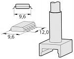 JBC - C245305 - Desoldering tip tunnel 9,6 x 12 mm, WL22507