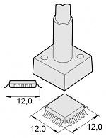 JBC - C245224 - Desoldering tip QFP/PLCC 12 x 12 mm, WL20086