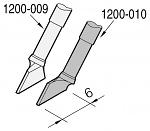 JBC - C120010 - Desoldering tip, blade-shaped, left, 6 x 0.7 mm, WL23227