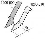JBC - C120009 - Desoldering tip, blade-shaped, right, 6 x 0.7 mm, WL23226