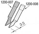 JBC - C120007 - Desoldering tip, blade-shaped, right, 3.5 x 0.7 mm, WL23224