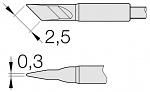 JBC - C105112 - Soldering tip knife shaped, 2.5 x 0.3 mm, WL26231